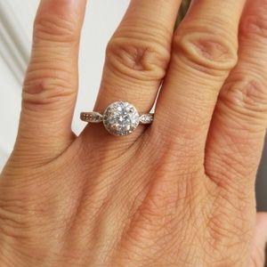 Jewelry - Authentic 2ct moissanite diamond ring